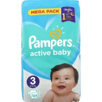 Подгузники Pampers Active Baby Midi 6-10кг, 124шт/уп (8001090950857)